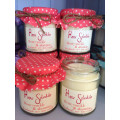 Glass Jar Scented Candle with Customized Logo and Raffia