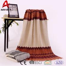 New product printed crumple 100% acrylic woven throw blanket