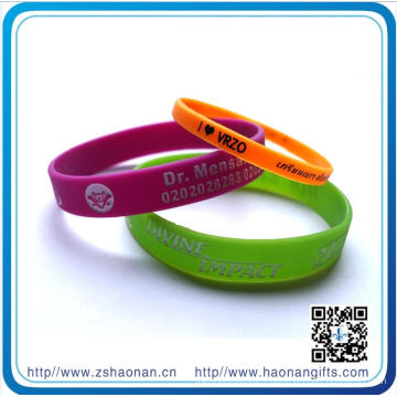 10 Years Eco-Friendly Silicone Wristbands Glow in Dark Slicone Bracelet