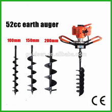 52cc 1700w Mini Post Hole Digger Perceuse à foret Perceuse à gaz Essence de sol à essence portable