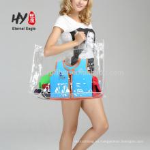 Bolsa transparente de material de embalaje de viaje de PVC a prueba de agua