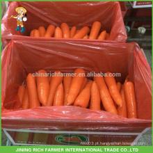 Cenoura fresca da colheita de China da alta qualidade Tamanho de S / M / L