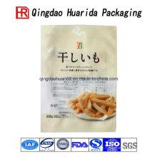 Patatas fritas coloridas transparentes que empaquetan la bolsa del embalaje de la comida del bolso