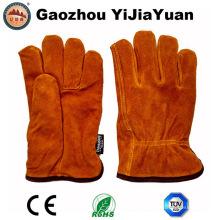 Cuero de seguridad Protección de las manos Invierno guantes calientes para conducir