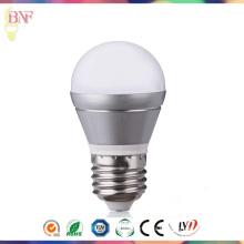 Bulbo E14 / E27 de la luz del día de plata de la fábrica 2W / 4W / 6W G45 LED para la venta al por mayor