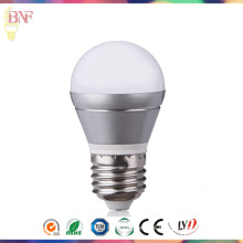 Bulbo de prata E14 / E27 da luz do dia da fábrica do diodo emissor de luz de 2W / 4W / 6W G45 para a venda por atacado