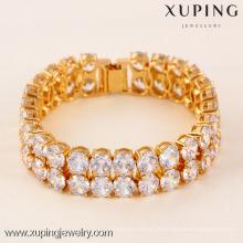 71565 Xuping Fashion Woman Bracelet com banhado a ouro