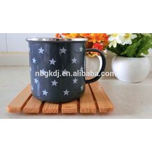 enamel mugs hot selling & carbon steel with enamel coating & SS edge