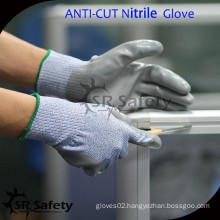 SRSAFETY cut level 5 work anti cut gloves/nitirle coated cut resistant gloves,household use glove