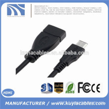 10CM USB 3.0 AF à USB-C 3.1 Type C Adaptateur de connecteur de câble de données OTG pour MacBook Nokia N1 Hard Disk