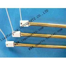 Gold coated halogen  quartz heater tube