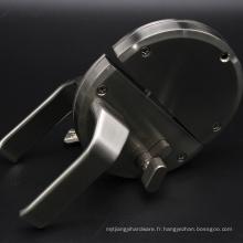 Serrure de porte en verre à double battant en alliage de zinc durable avec poignées