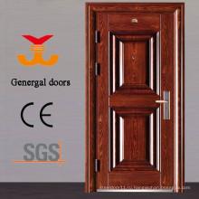 Сертификат ISO9001 дешевой цене безопасности внешняя стальная дверь