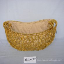 Oval  Paper Rope Festival Gift Basket