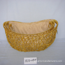 Low Cost for Holiday Gift Baskets Oval  Paper Rope Festival Gift Basket supply to France Factory