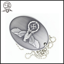 Army Eagle logo dog tag for Antique finish