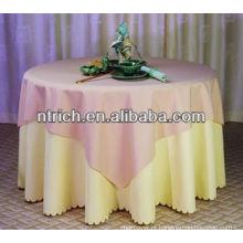 Toalha de mesa delicada poliéster jersey, toalha de mesa durável, toalha de mesa banquete