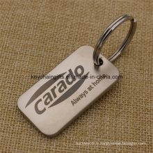 Étiquette de clé vide en métal de cadeaux de promotion personnalisés