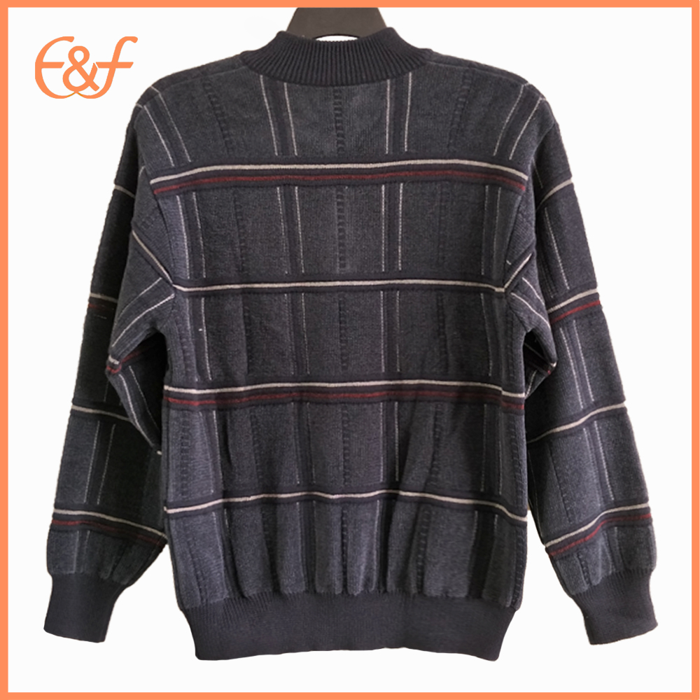 Casual Half Zip Jumper Men Woolen Design Sweater