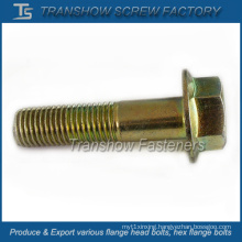 Yellow Zinc Galvanized Large Flange Bolt (M16X60)