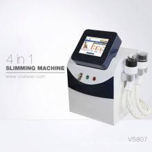 Massager de drainage lymphatique de rajeunissement de peau de réduction de cellulites avec le laser + RF + vide + cavitation