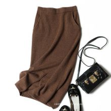 Élégant jupe longue automne hiver Cachemire à tricoter jupe élégante mode sexy couleur crayon jupe pour les filles