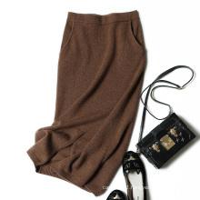 Stylish long skirt autumn winter cashmere knitting skirt elegant sexy fashion color pencil skirt for girls