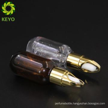 PET Plastic type plastic cosmetics brown amber matte bottles for men beard cosmetic packing