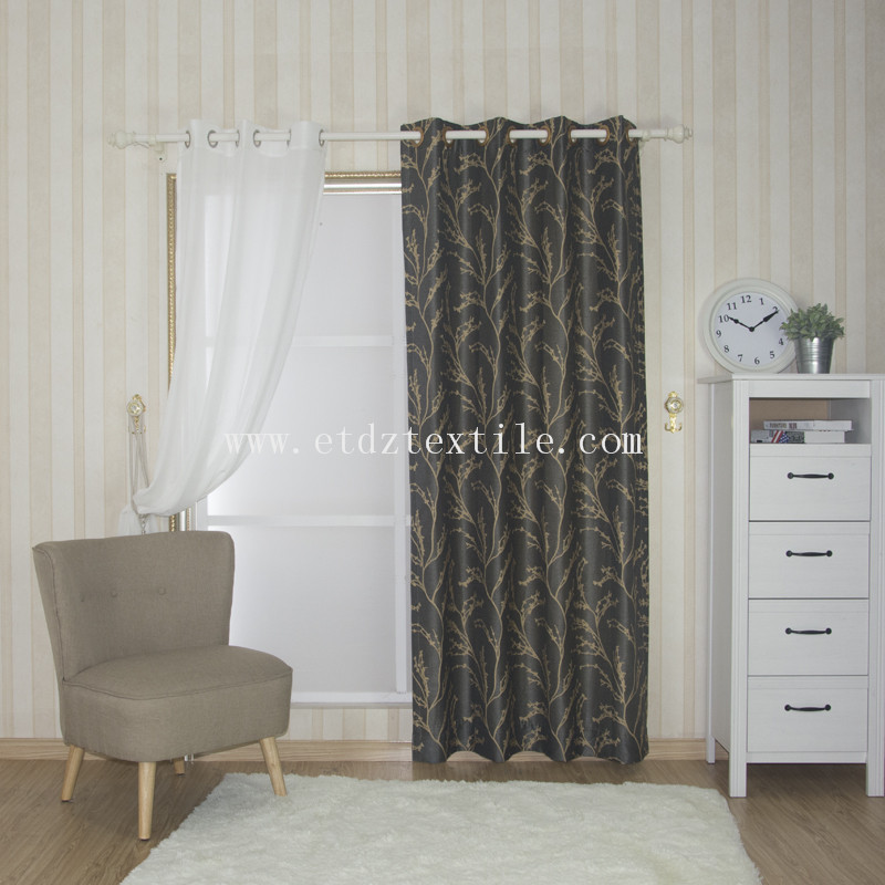 Polyester yarn dyed window curtain fabric QZ1539