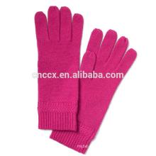 PK17ST034 Italian cashmere gloves Chevron-Rib