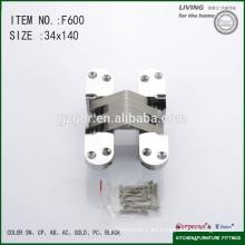 Preciosa F600 bisagra oculta fabricada por aleación de zinc