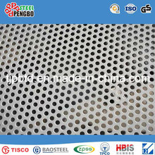 Hoja de acero inoxidable perforada redonda de la placa de metal 316L / 304