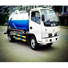 DongFeng 4 * 2 camión de succión de aguas residuales / 4X2 Dongfeng pequeño camión de aguas residuales / camión de vacío / camión de succión de aguas residuales / camión de succión de agua residual
