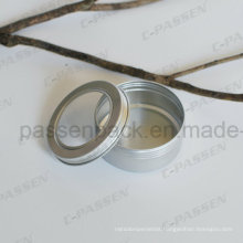 5oz Aluminum Tea Tin Can with Window Lid