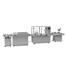 Automatic round square glass bottle filling capping and labeling machine