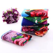 Floral Printed Towel For Kitchen Microfiber Towels