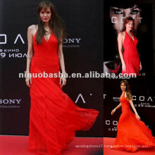 Stunning Halter Celebrity Red Carpet Dress