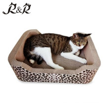 Eco-friendly Reciclável Natural Papelão Ondulado Bulk Cat Scratcher Placa de Papel Brinquedos China Suprimentos SCS-7003