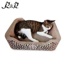 Eco-friendly Reciclável Natural Papelão Ondulado Bulk Cat Scratcher Placa de Papel Brinquedos China Suprimentos SCS-7003