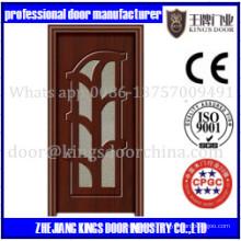 Puerta de madera del PVC del estilo abierto y del oscilación de la puerta de MDF