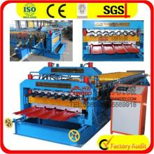 Máquina de formação de rolo de camada dupla de 840/900