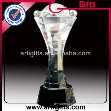 Trofeo cristalino de la estatuilla clara alta calidad 2014