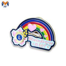 Soft enamel custom rainbow lapel pin badge