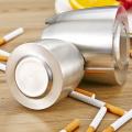 пепельница сигары изготовленного на заказ логотипа ветрозащитного металла напольная для офиса гостиницы используя