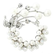 Women Pearl Flower Brooch (FQ-3013)