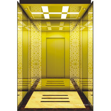 Space-Saving Hotel Well-Decorated Passenger Lift Without Machine Room