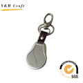 Chaveiro popular da correia do metal e de couro. (Y02123)