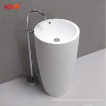 KKR Customize Bathroom Pedestal Sink Acrylic Solid Surface Basin