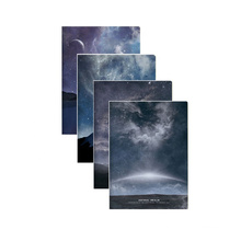 Andstal Cool Starry Sky Black Notebook A5 80Sheets Notebook Hardcover For Notepad Notebook