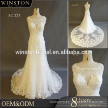 Alibaba Guangzhou Robes Factory plus robes de mariée taille avec manches